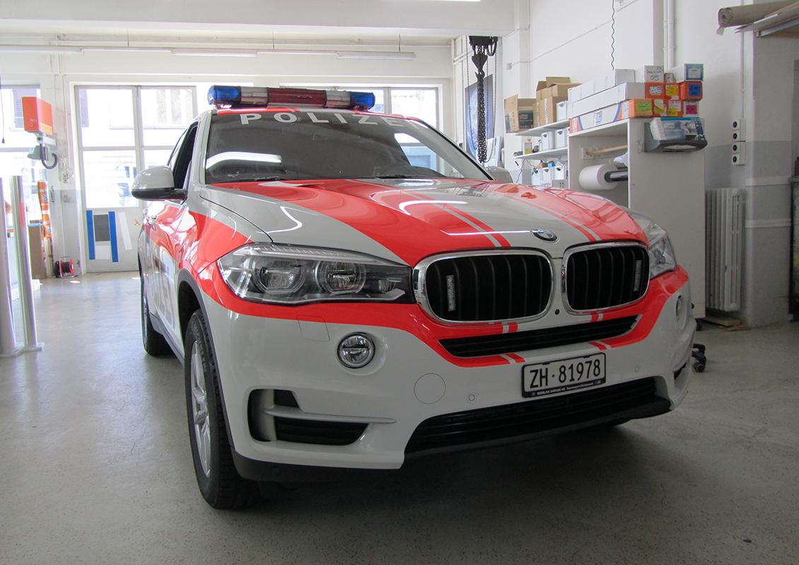Autobeschriftung F 252 R Die Polizei Horgen Aktuell